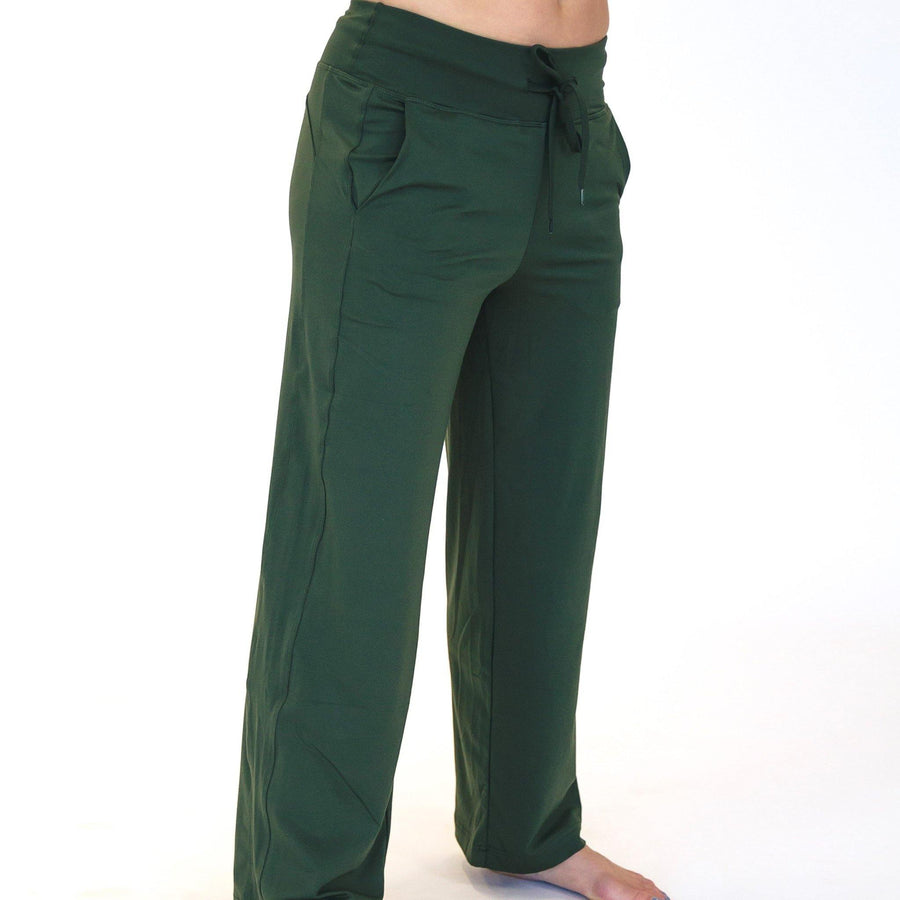 Wide Leg Lounge Pants - Evergreen - Senita Athletics