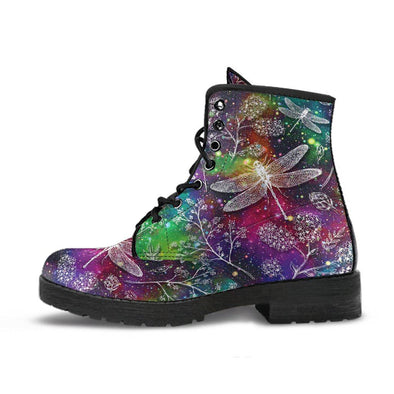 Colorful Galaxy Dragonfly Boots