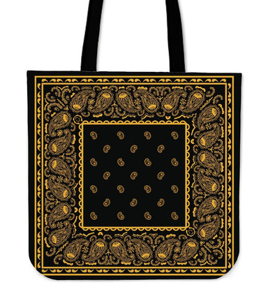 Black and Gold Bandana Bag