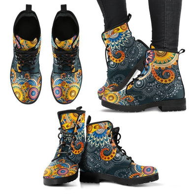 Henna Flower Boots - Clearance