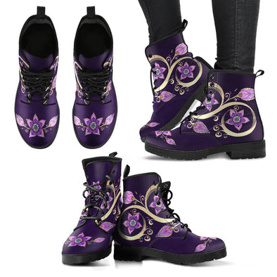 Spiritual Flower Handcrafted Boots
