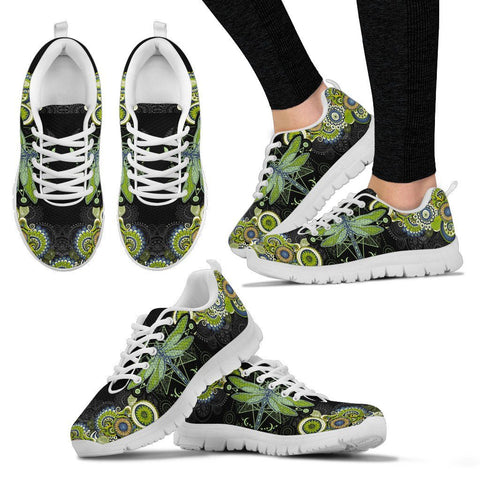 Image of Mandala Dragonfly Handcrafted Sneakers