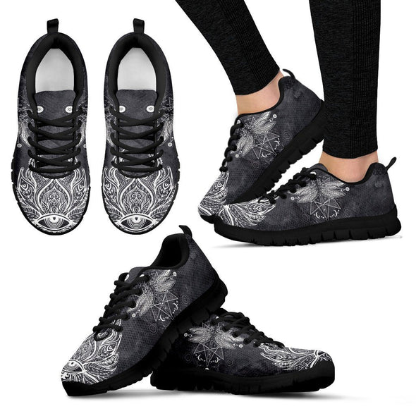 Dragonfly Lotus Handcrafted Sneakers