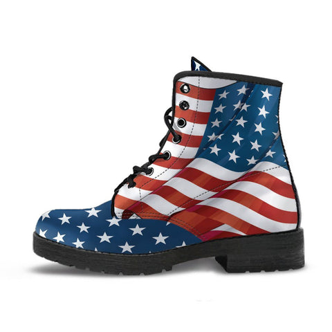 US Flag Handcrafted Boots