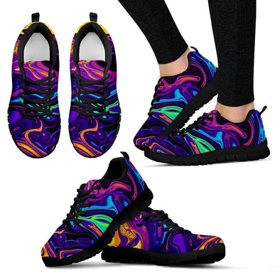 Neon Visual Arts Handcrafted Sneakers