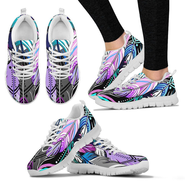 Beautiful Feather Handcrafted Sneakers
