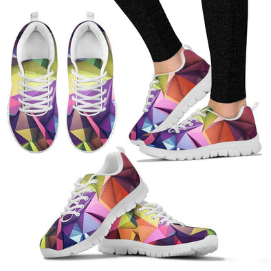 Abstract Geometric Art HandCrafted Sneakers.