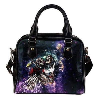 Skeletons Drinking Shoulder Handbag