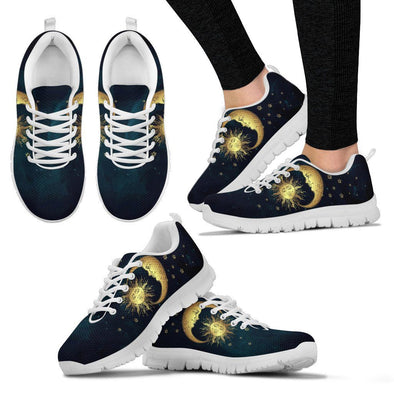 Sun Moon with Stars Handcrafted Sneakers