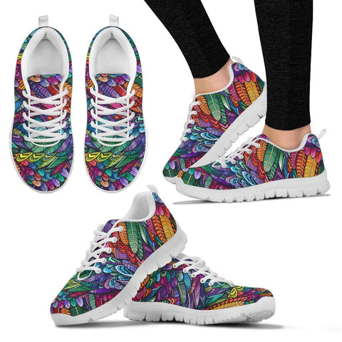 Image of Boho Feather Handcrafted Sneakers