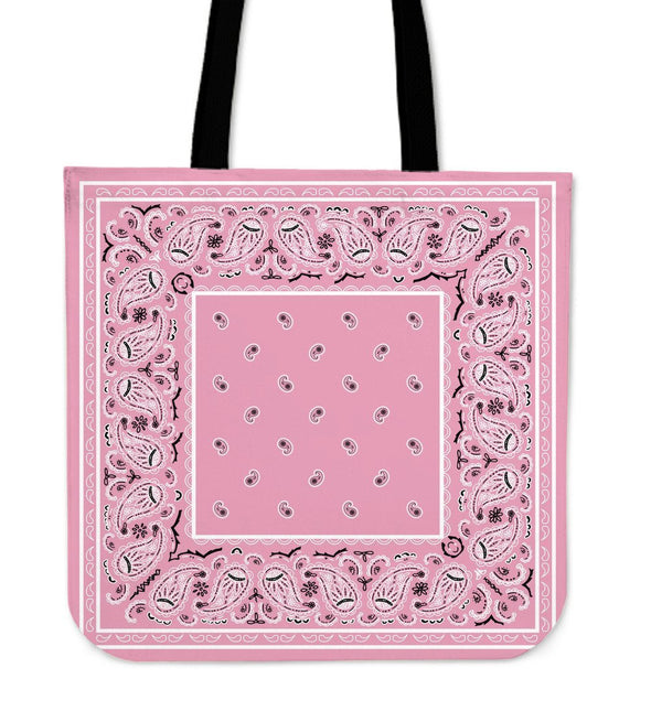 Light Pink Bandana Tote Bag