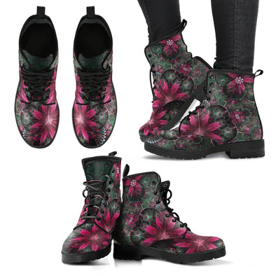 Fractal Flower 1 Handcrafted Boots