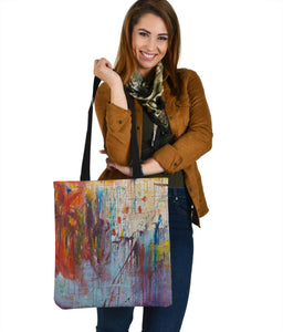 Drizzled Tote Bags from Expressionistic Fine Art Painting