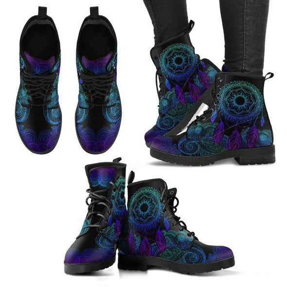 Blue Green Dreamcatcher Handcrafted Boots