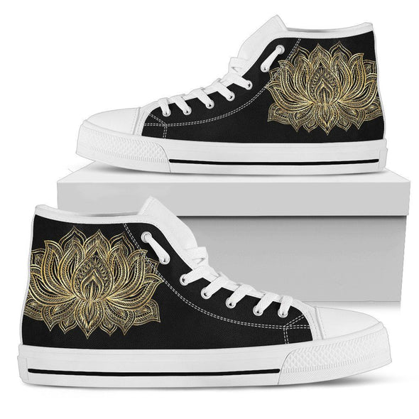 Golden Lotus Handcrafted High Tops