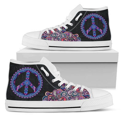 Peace and Henna High Tops
