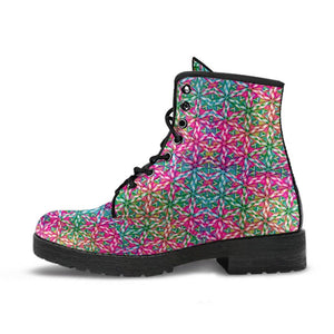 Colorful Fractal Mandala Boots