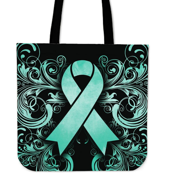 Cancer Awareness Teal Tote