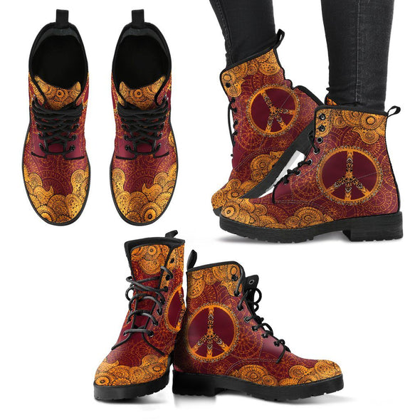 Peace & Henna Handcrafted Boots V2