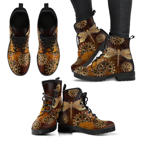 Image of Steampunk Dragonfly Handcrafted Boots