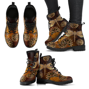 Steampunk Dragonfly Handcrafted Boots