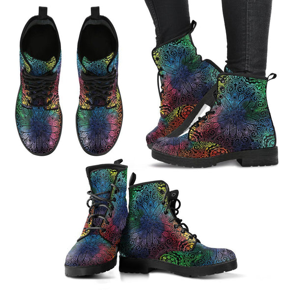 Colorful Mandala Handcrafted Boots