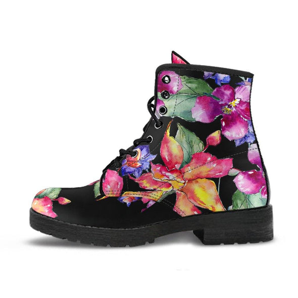 Watercolor Floral Boots
