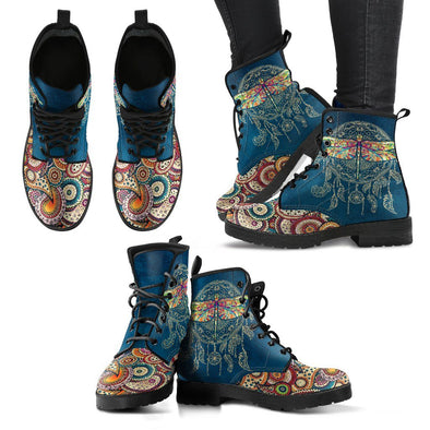 Dragonfly Dream Catcher Handcrafted Boots