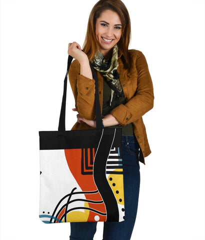 Retro Abstract Tote Bag 2