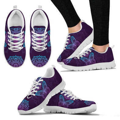 Purple Butterfly Handcrafted Sneakers