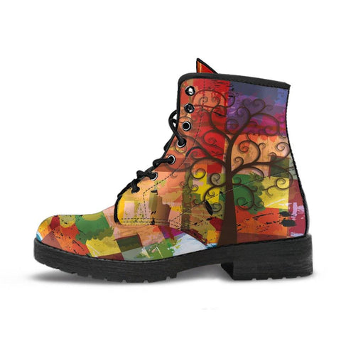 PAINTING TREE OF LIFE BOOTS