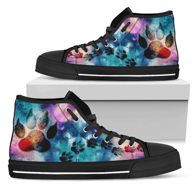 Dog Paw Print Handcrafted High Tops
