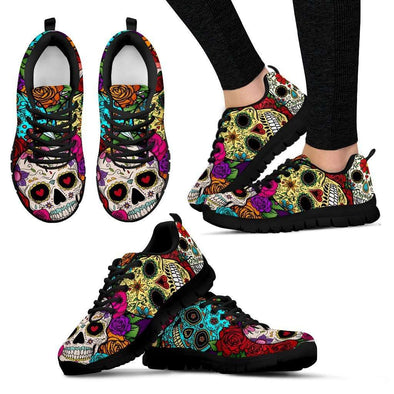 Sugar Skull Handcrafted Sneakers