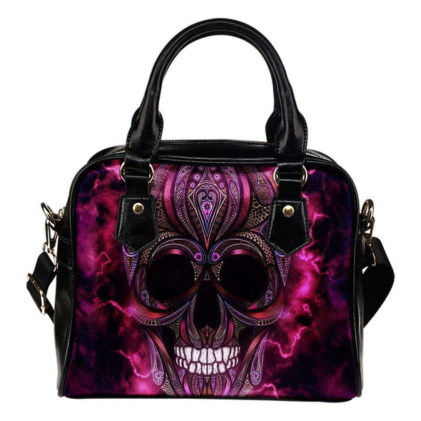 Oriental Skull Shoulder Handbag