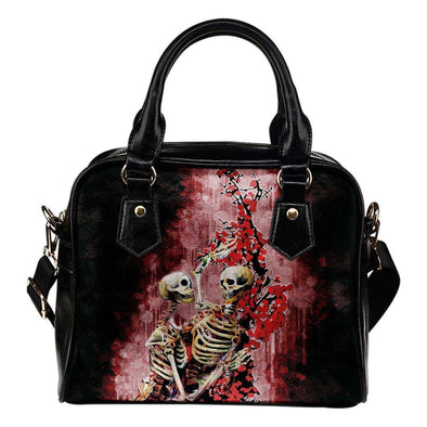 Skeleton Lovers Shoulder Handbag