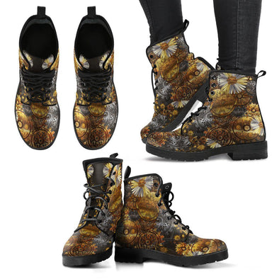 Steampunk Flower Handcrafted Boots