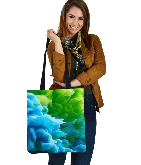 Blue Green Smoke Tote Bag