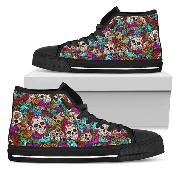 Sugar Skull Handcrafted High Tops.