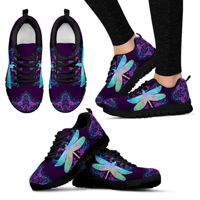 Purple Dragonfly Handcrafted Sneakers
