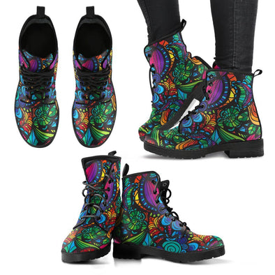 Mosaic Flower Handcrafted Boots