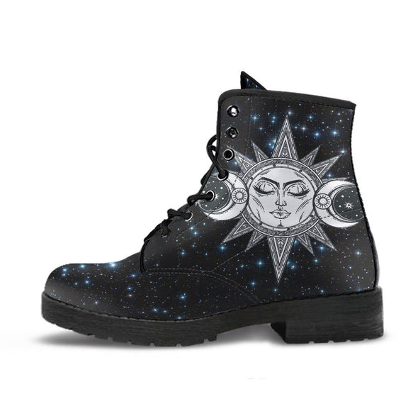 Starry Sun and Moon Handcrafted Boots