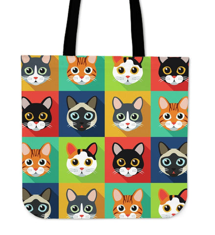 Cat Pattern Tote