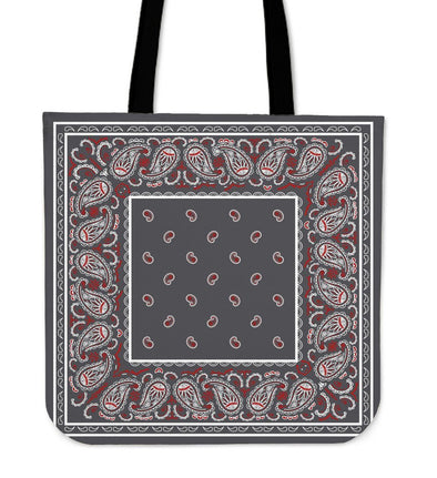 Wicked Gray Bandana Tote Bag