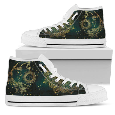 Sun Moon Handcrafted High Tops