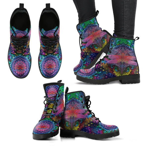 Colorful Spiritual Dragonfly Boots