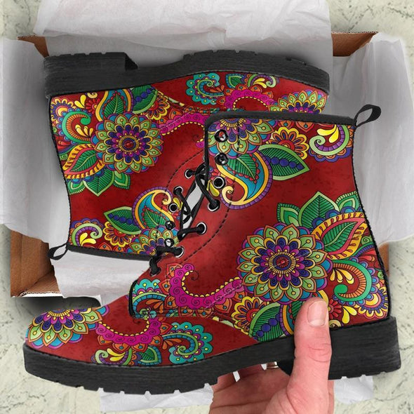 Red Henna Handcrafted Boots