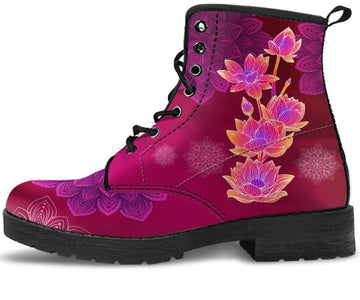 Lotus Flower Handcrafted Boots