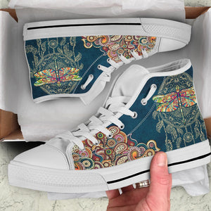 Dragonfly Dream Catcher High Tops