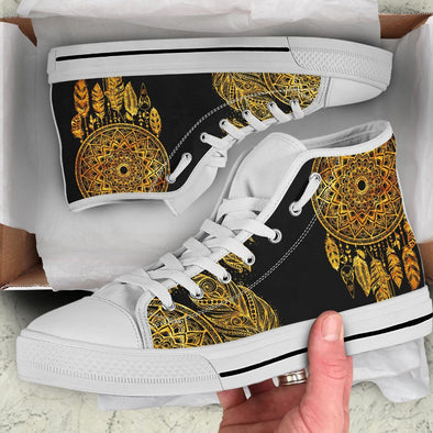 Golden Dream Catcher High Tops