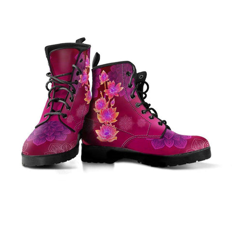 Image of Lotus Flower Handcrafted Boots